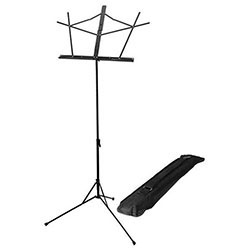On Stage Sheet Music Stand Detatchable Bookplate in Black with Bag