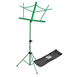 On Stage Compact Sheet Music Stand in Green with Bag