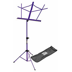 On Stage Compact Sheet Music Stand in Purple with Bag