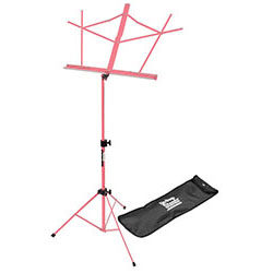 On Stage Compact Sheet Music Stand in Pink with Bag