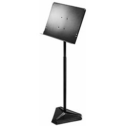On Stage Orchestral Sheet Music Stand with Solid Bookplate & Weighted Hex Base