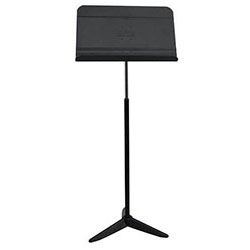 On Stage Orchestral Sheet Music Stand with Solid Bookplate