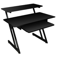 On Stage Wooden Workstation in Black/Black Steel Frame