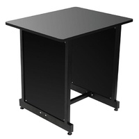 On Stage Wooden Rack Cabinet in Black/Black Steel Frame