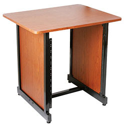 On Stage Wooden Rack Cabinet in Rosewood/Black Steel Frame