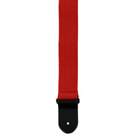 "Perris 2"" Red Cotton Guitar Strap with Leather ends"