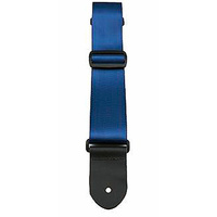 "Perris 2"" Navy Blue Seatbelt Style Guitar Strap with Leather ends"