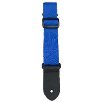 "Perris 1.5"" Nylon Ukulele Strap in Blue with Leather ends"