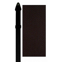 "Perris 2"" Poly Pro Black Guitar Strap with Leather ends"