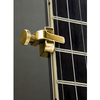 Shubb Fifth String Regular Bar Banjo Capo in Gold