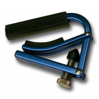 Shubb Lite Ukulele Capo in Metallic Blue Finish