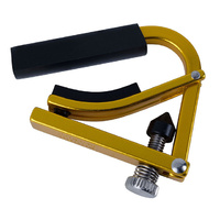 Shubb Lite Ukulele Capo in Metallic Gold Finish