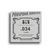 SIT Phosphor Bronze Wound Acoustic Guitar Single String (034)