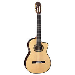 Takamine Hirade Pro Series AC/EL Full Size Concert Classical Guitar with Cutaway