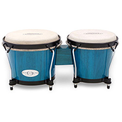 "Toca 6 & 6-3/4"" Synergy Series Wooden Bongos in Bahama Blue"
