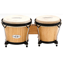 "Toca 6 & 6-3/4"" Synergy Series Wooden Bongos in Natural"