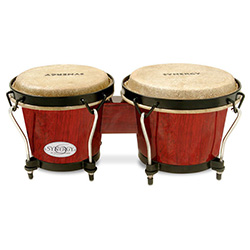 "Toca 6 & 6-3/4"" Synergy Series Wooden Bongos in Rio Red"