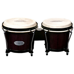 "Toca 6 & 6-3/4"" Synergy Series Wooden Bongos in Trans Black"