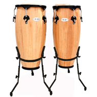 "Toca 10 & 11"" Synergy Series Wooden Conga Set in Natural"