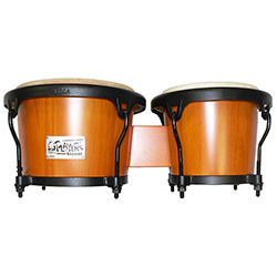 "Toca 7 & 8-1/2"" Players Series Wooden Bongos in Amber"