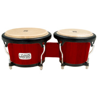 "Toca 7 & 8-1/2"" Players Series Wooden Bongos in Cherry"