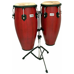 "Toca 11 & 11""-3/4"" Players Series Wooden Conga Set in Cherry"