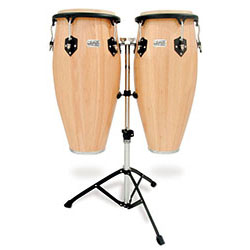 "Toca 11 & 11""-3/4"" Players Series Wooden Conga Set in Natural"