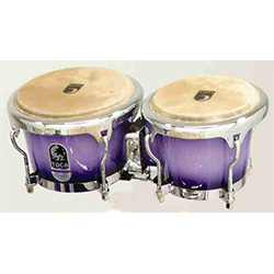 "Toca Elite Series 7 & 8-1/2"" Wooden Bongos in Purple Mist"