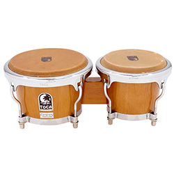 "Toca Custom Deluxe Series 7 & 8-1/2"" Wooden Bongos in Antique Maple"