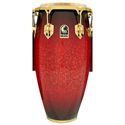 "Toca LE Series 12-1/2"" Wooden Tumba in Bordeaux"