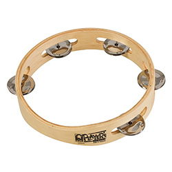 "Toca Players Series 7-1/2"" Wooden Tambourine with Single Row Of Jingles"
