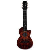 Kealoha Guitalele in Ancient Bronze Design with Black ABS Resin Body