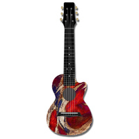 Kealoha Guitalele in Surfing USA Design with Black ABS Resin Body