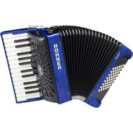 Hohner Bravo II 48 Bass Chromatic Accordion in Blue Pearl