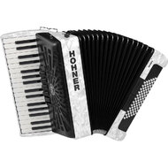 Hohner Bravo III 72 Bass Chromatic Accordion in White Pearl