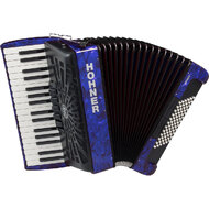Hohner Bravo III 72 Bass Chromatic Accordion In Blue Pearl