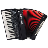 Hohner Bravo III 96 Bass Chromatic Accordion In Black