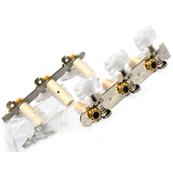GT LA Series Classical Guitar Tuning Machines on Plate in Chrome Finish (3+3)