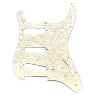 Gotoh 3-Ply ST-Style 3SC Electric Guitar Pickguard in White Pearl (Pk-1)