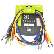 "Leem 3ft FX Pedal Patch Cables 6pk (1/4"" Straight Plug - 1/4"" Straight Plug)"