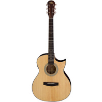 Aria 205 Series Orchestral AC/EL Guitar with Venetian Cutaway in Natural