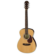Aria ADF-01 Series Folk Body Acoustic Guitar in Gloss Natural