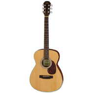 Aria ADF-01 Series Folk Body Acoustic Guitar in Satin Natural