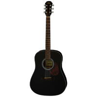 Aria ADW-01 Series Dreadnought Acoustic Guitar in Black