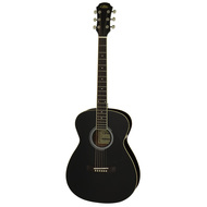 Aria AF-15 Folk Body Acoustic Guitar in Black