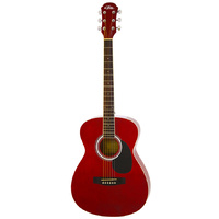 Aria AF-15 Folk Body Acoustic Guitar in Metallic Candy Apple Red