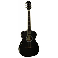 Aria AF-15 Left Handed Folk Body Acoustic Guitar in Black