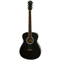 Aria AF-15 Folk Body Acoustic Guitar in Metallic Black