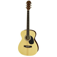 Aria AF-15 Folk Body Acoustic Guitar in Natural Gloss