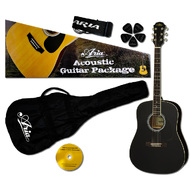 Aria Prodigy Series Acoustic Guitar Package in Black